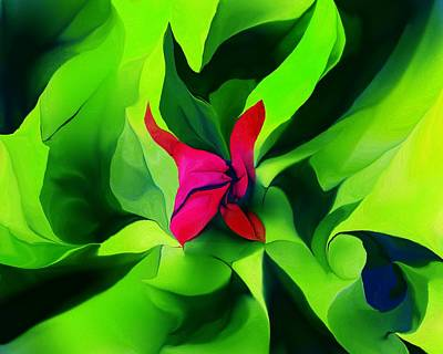 Poster featuring the digital art Floral Abstract Play by David Lane