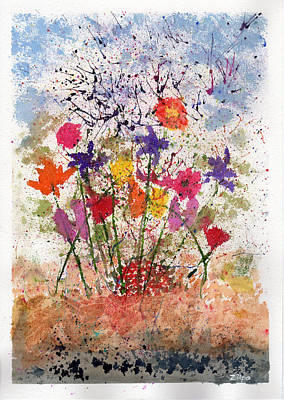 Floral Abstract Poster by Zilpa Van der Gragt