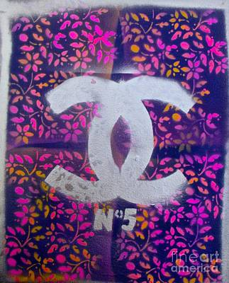 Floral Chanel Poster by Tony B Conscious