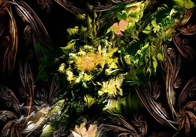 Poster featuring the digital art Floral Expression 020215 by David Lane