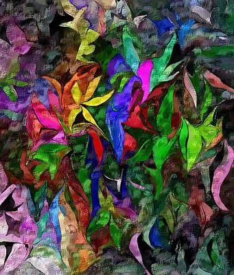 Poster featuring the digital art Floral Fantasy 012015 by David Lane
