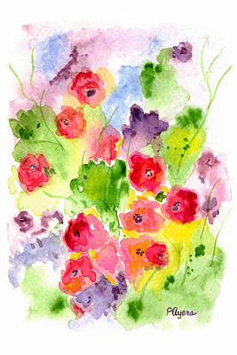 Poster featuring the painting Floral Fantasy by Paula Ayers
