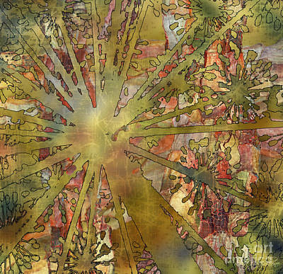 Floral Motif Antiquated Poster