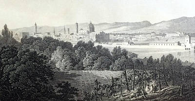Florence From The Road To Arezzo Poster