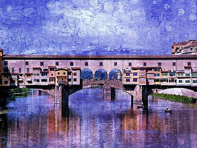 Poster featuring the photograph Florence Italy by Kathy Churchman