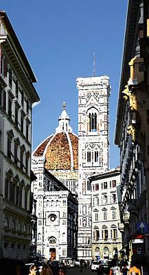 Florence Italy Santa Maria Fiori Duomo Poster by Irina Sztukowski
