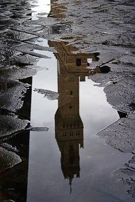 Poster featuring the photograph Florence Reflection by Henry Kowalski