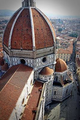 Florence Tile Roof Church Poster
