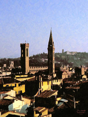 Florence Towers Poster