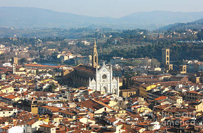 Florence With The Basilica Di Santa Croce Poster by Kiril Stanchev