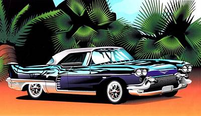 Poster featuring the digital art Florida Car by P Dwain Morris