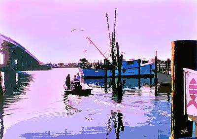 Florida Fishing Dock Poster
