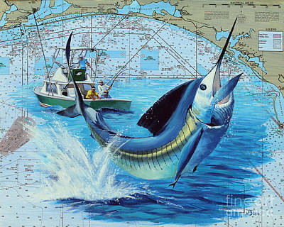 Florida Panhandle Bill Fishing Poster