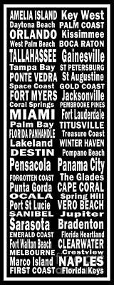Florida Places On Canvas.com Poster