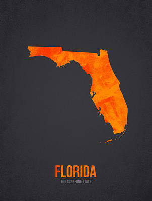Florida The Sunshine State Poster by Aged Pixel