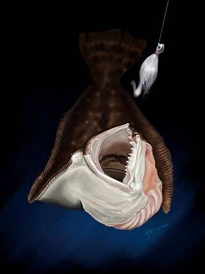 Flounder Strike Poster