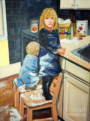 Flour Fight Poster by Iris Richardson
