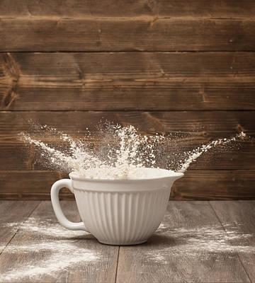 Flour Splash Poster by Amanda Elwell