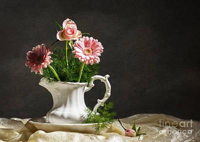 Flower Arrangement Poster by Amanda Elwell