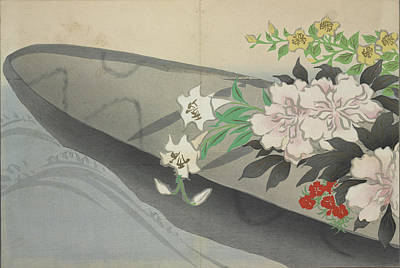 Flower Boat., Kamisaka, Sekka, Artist, Date Issued 1909 Poster by Artokoloro
