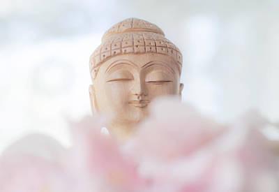 Flower Buddha 1 Poster by Jenny Rainbow