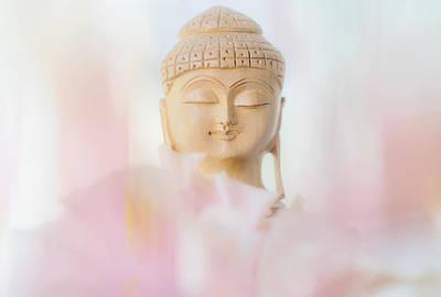 Flower Buddha 2 Poster by Jenny Rainbow