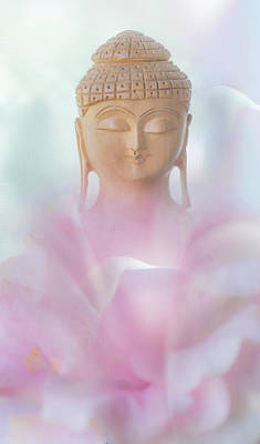 Flower Buddha Poster by Jenny Rainbow