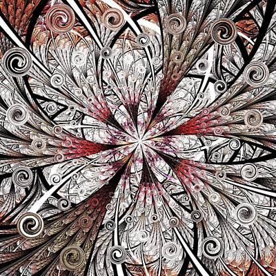 Flower Carving Poster by Anastasiya Malakhova