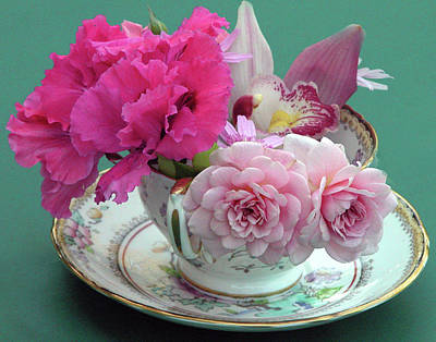 Flower Cup 4 Poster by Charlette Miller