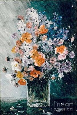 Poster featuring the painting Flower Field by Sorin Apostolescu