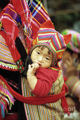 Flower Hmong Baby 01 Poster by Rick Piper Photography