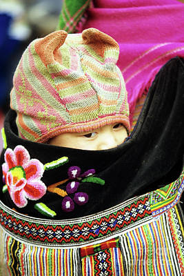 Flower Hmong Baby 02 Poster by Rick Piper Photography