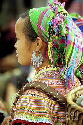 Flower Hmong Woman Poster by Rick Piper Photography