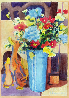 Flower In The Dell Poster by Kathy Braud