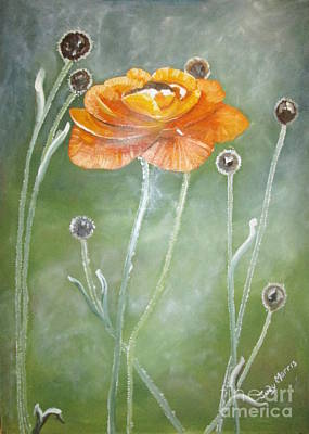 Flower In The Mist Poster by Judy Morris