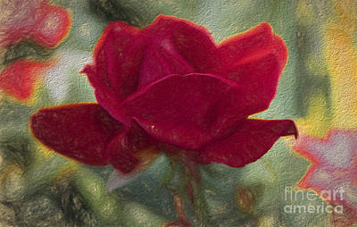 Flower - Living Rose - Luther Fine Art Poster by Luther Fine Art