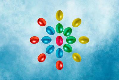 Flower Of Easter Eggs Poster by Alexander Senin