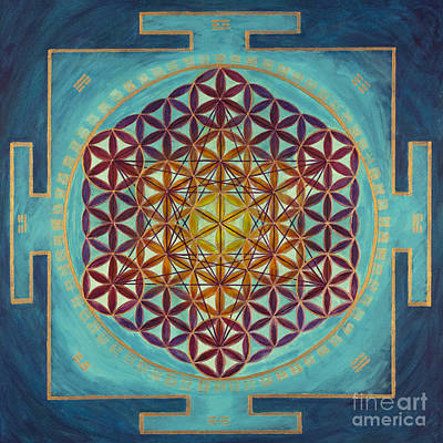 Flower Of Life - I Ching Poster by Angie Bray-Widner