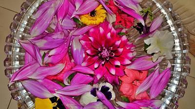 Flower Offerings - Jabalpur India Poster