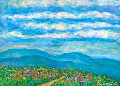 Flower Path To The Blue Ridge Poster by Kendall Kessler