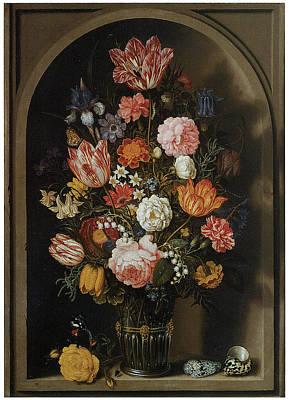 Flower Piece Poster by Ambrosius Bosschaert The Elder