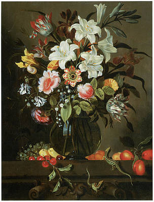 Flower Piece Poster by Jacob Marrell