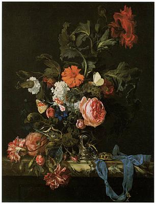 Flower Piece Poster by Willem Van Aelst