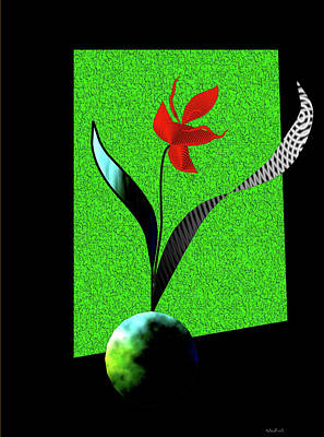 Poster featuring the digital art Flower Show by Asok Mukhopadhyay