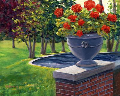 Flower Urn Poster by Elaine Farmer