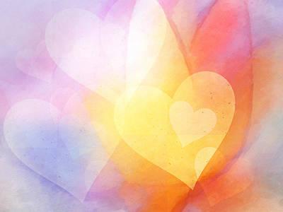 Flowerhearts Poster by Lutz Baar