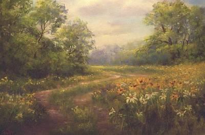 Flowering Field Poster