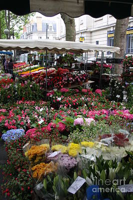 Flowermarket - Tours Poster by Christiane Schulze Art And Photography