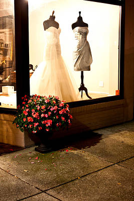 Flowers And Storefront Poster by Chris Fender