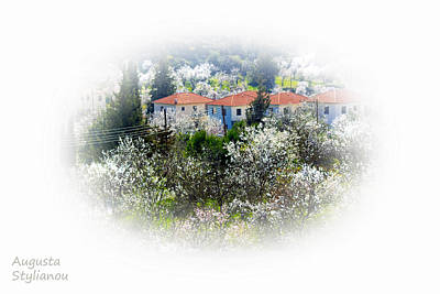 Flowers And Villas Poster by Augusta Stylianou